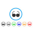 sun glasses rounded icon vector image