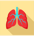 tuberculosis lungs icon flat style vector image
