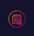 upload documents and files icon vector image