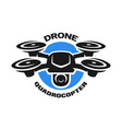 video drone quadrocopter logo vector image vector image