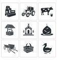 Village life Icons Set vector image vector image