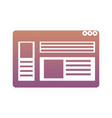 web page interface icon vector image