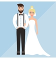 wedding of a cute boy and girl vector image
