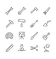 work tools set icon outline handmade tools vector image vector image