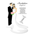 Bride and groom vector image