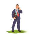 businessman talking phone vector image