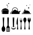 set tools for kitchen vector image