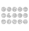 waves flowing spheres art abstract design template vector image