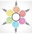 colorful swirl tree vector image