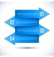 Modern business infographics arrow template vector image