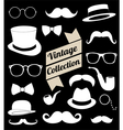 set of collection vintage fashion elements vector image