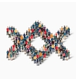 abstract business symbol people vector image vector image