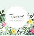 abstract natural tropical frame background with vector image vector image