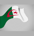 algeria flag on transparent background vector image vector image
