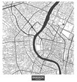 bangkok city map thailand vector image