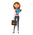 banker business lady office worker vector image