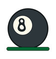 billiards ball vector image vector image