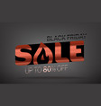 black friday sale banner season sale offer up to vector image vector image