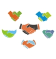 Business handshake symbols and icons vector image vector image