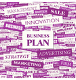 BUSINESS PLAN vector image vector image