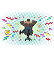 businessman in an office chair hard work vector image
