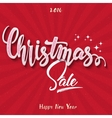Christmas sale Hand lettering vector image