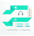 colorful infographic for business presentations vector image