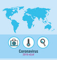 covid19 19 infographic with world map and icons vector image vector image