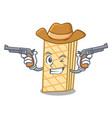 cowboy waffle character cartoon style vector image