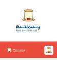 creative magician hat logo design flat color logo vector image