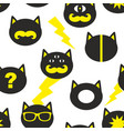 creative seamless background with fantastic cats vector image vector image