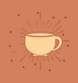 delicious coffee cup icon vector image vector image