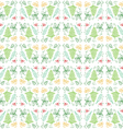 Doodle Leaf Seamless Pattern Background vector image vector image
