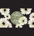elegant luxury business card with gerber daisy vector image vector image