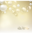 Elegant shiny Christmas background with golden vector image vector image