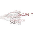 encrypting word cloud concept vector image vector image