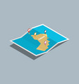explore oman maps with isometric style and pin vector image