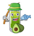 fishing avocado smoothies are isolated on vector image vector image
