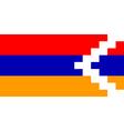 Flag of Nagorno Karabakh vector image vector image