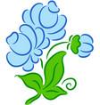 flower blue vector image