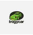 fun and playful frog car cartoon logo icon vector image