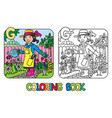 gardener coloring book alphabet g profession abc vector image vector image