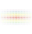 gay symbol spectrum halftone matrix vector image vector image