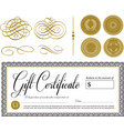 gift certifcate vector image vector image