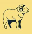 Goat Line Art vector image vector image