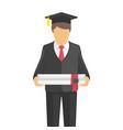 graduate student vector image