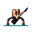 Guitarist character flat vector image