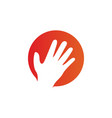 hand palm logo icon design template vector image vector image