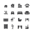 house related icons vector image vector image