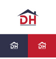 icon letter d h and roof vector image vector image